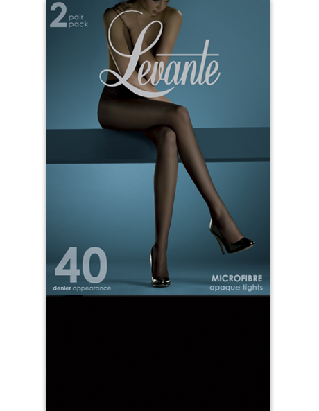 Opaque Pantyhose 2 Pack 40D SOFO402PTI in Brown or Black image 1