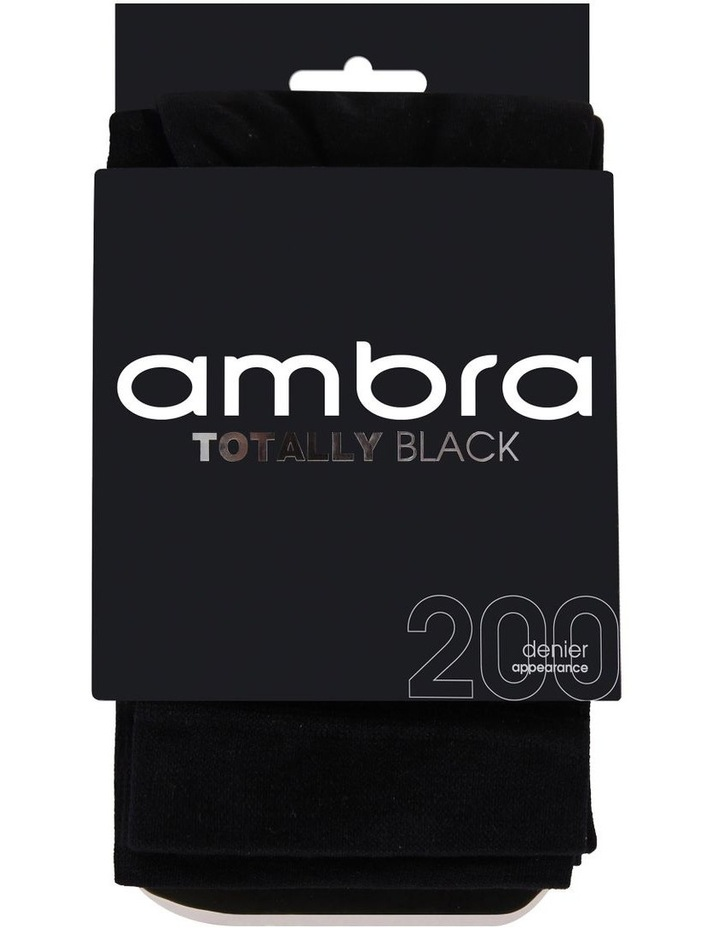 Totally Black Opaque 200 Denier Tights image 1
