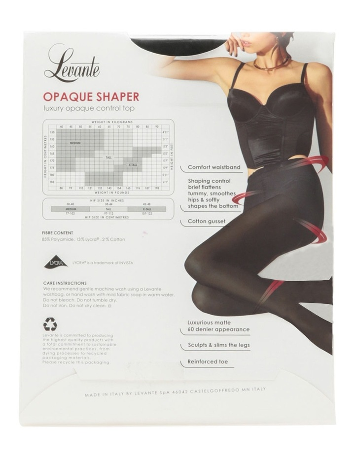 Opaque Shaper Pantyhose OPASHAPL in Black image 2