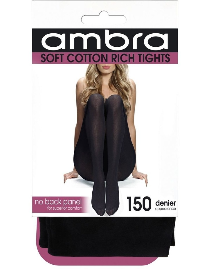 Cotton Opaque Black Tights 150D image 2