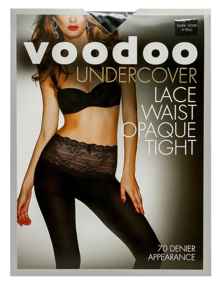 Undercover Lace Waist Opaque in Black image 1