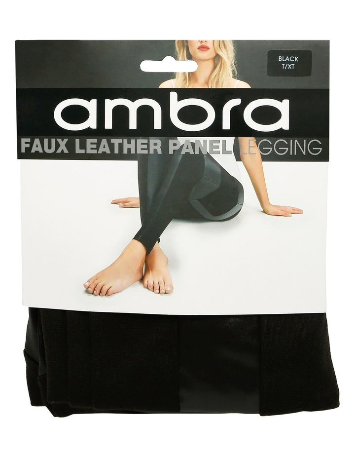 9689fab7209 Ambra Faux Leather Panel LeggingFaux Leather Panel Legging
