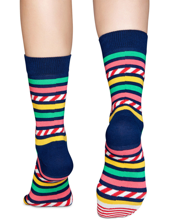 'Stripes & Stripes' Crew Sock SAS01-6000 image 2