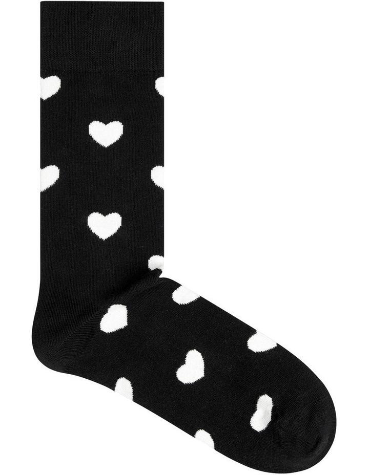 'Heart' Crew Sock HA01-999 image 1