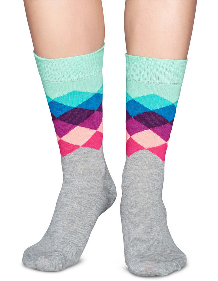 'Faded Diamond' Crew Sock FAD01-9000 image 2