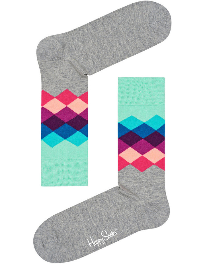 'Faded Diamond' Crew Sock FAD01-9000 image 3