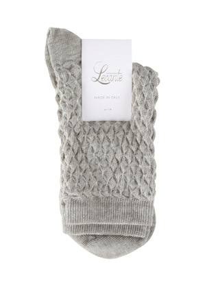 Levante - Zeta Honeycomb Knit Crew Sock LZETHONSK