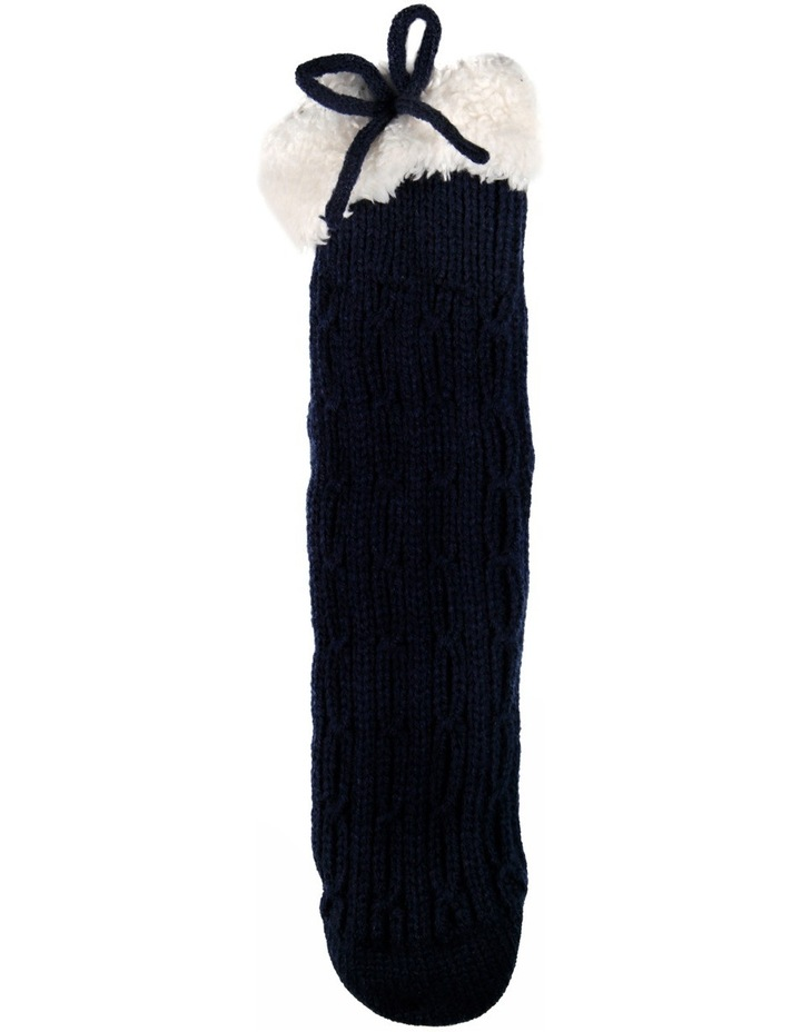 Textured Knit Crew Bed Socks 17-170 image 2