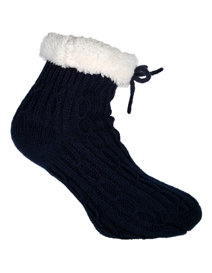 Textured Knit Crew Bed Socks 17-170 image 3