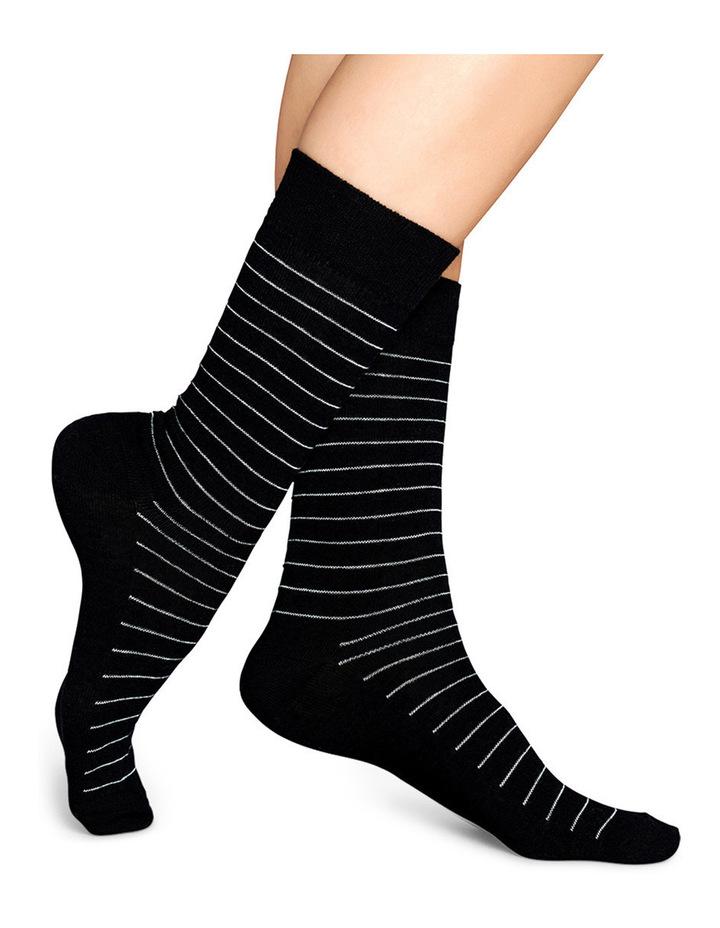 """""""Essentials"""" Stripe Crew Sock SB01-999 image 3"""