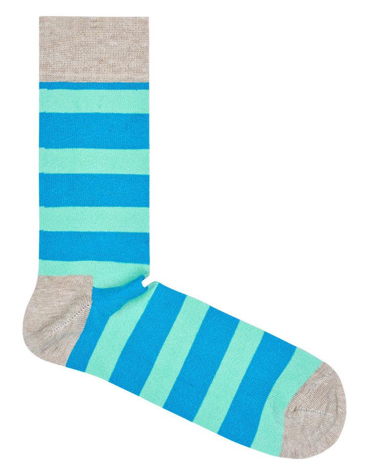"""""""Stripe"""" Crew Sock STR01-1000 image 1"""