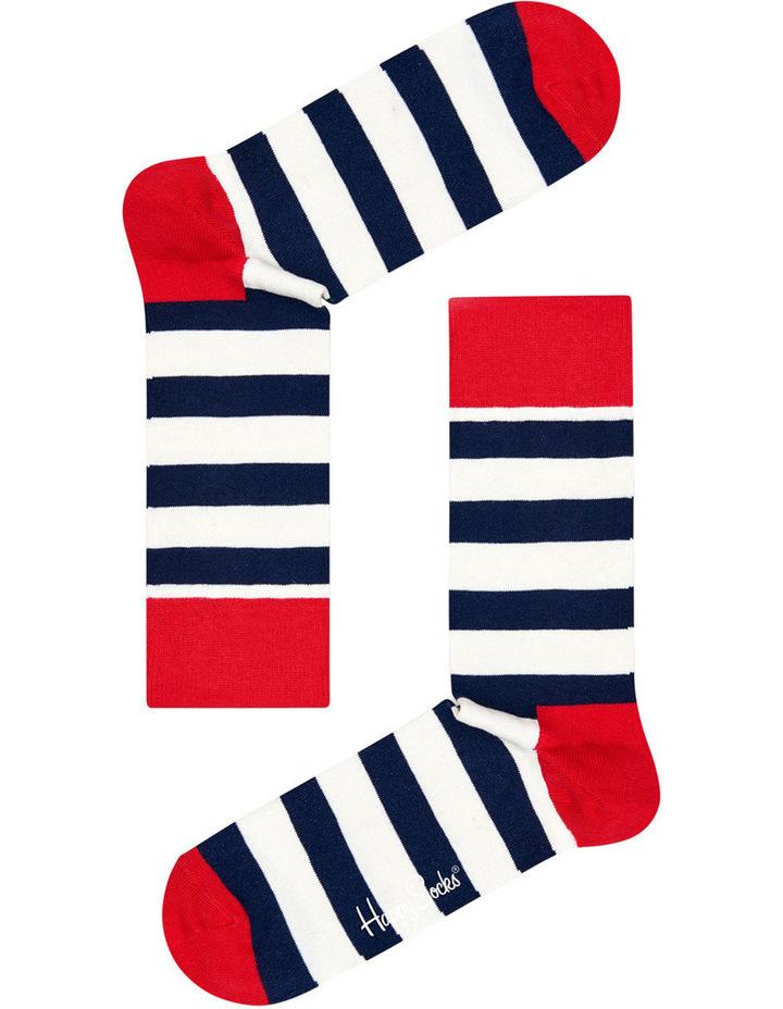 """Stripe"" Crew Sock SA01-045 image 2"