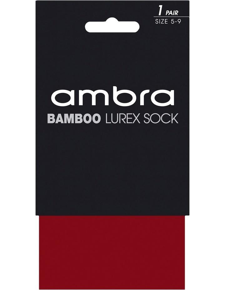 Bamboo Lurex Sock Amlurbam_Jet image 1