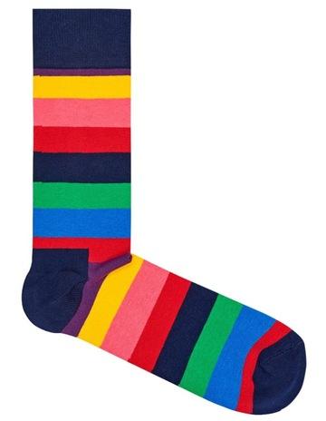 Happy SocksHappy Socks  Stripes  Crew Sock STR01-6001. Happy Socks Happy  Socks  Stripes  Crew Sock STR01-6001 b34742a0b