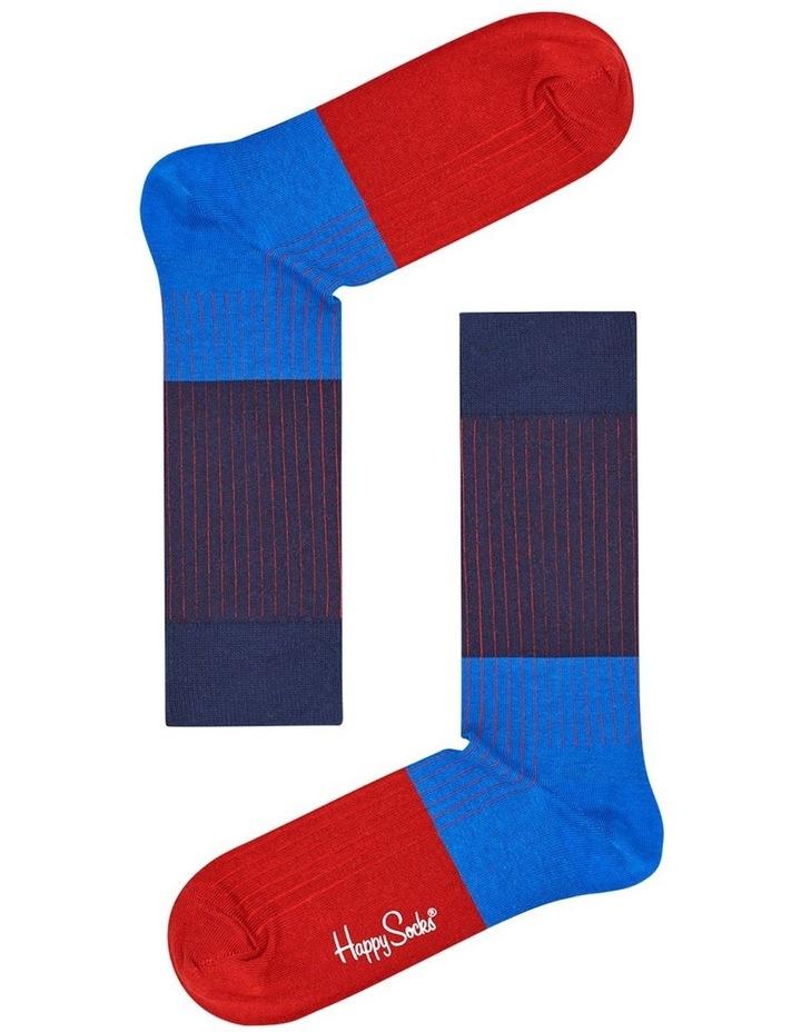 Happy Socks 'Essentials' Colour Block Crew Sock BLR01-6001 image 2
