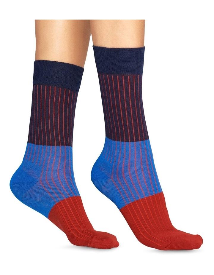 Happy Socks 'Essentials' Colour Block Crew Sock BLR01-6001 image 3