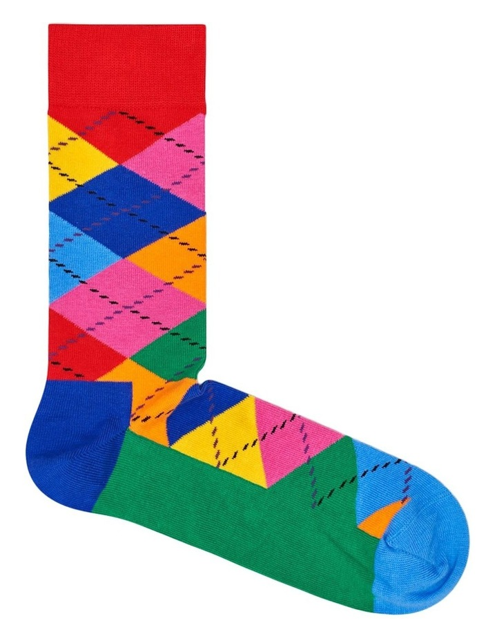 Happy Socks 'Argyle' Crew Sock ARY01-4001 image 1