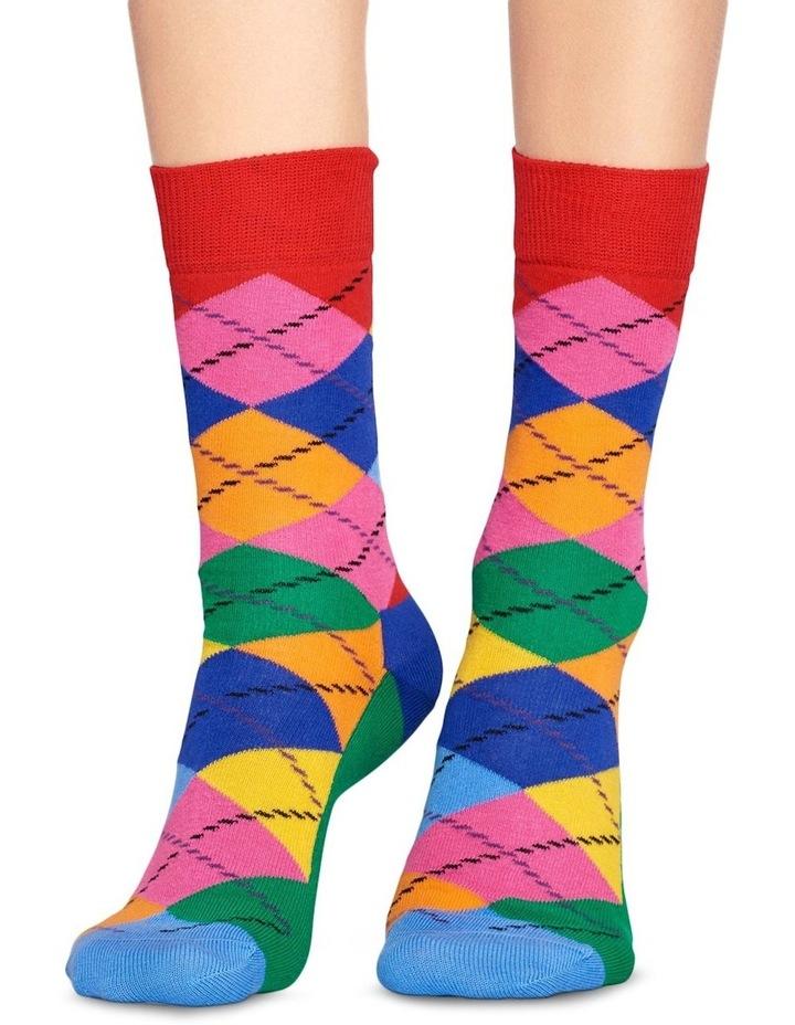 Happy Socks 'Argyle' Crew Sock ARY01-4001 image 3