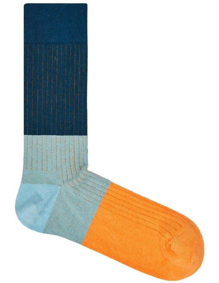 Happy Socks 'Essentials' Colour Block Crew Sock BLR01-6000 image 1