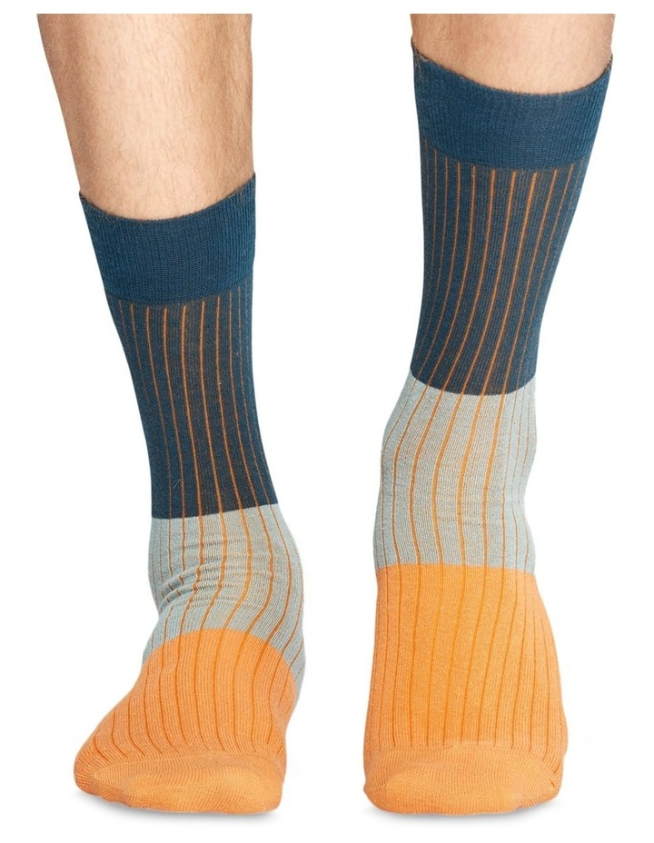 Happy Socks 'Essentials' Colour Block Crew Sock BLR01-6000 image 3