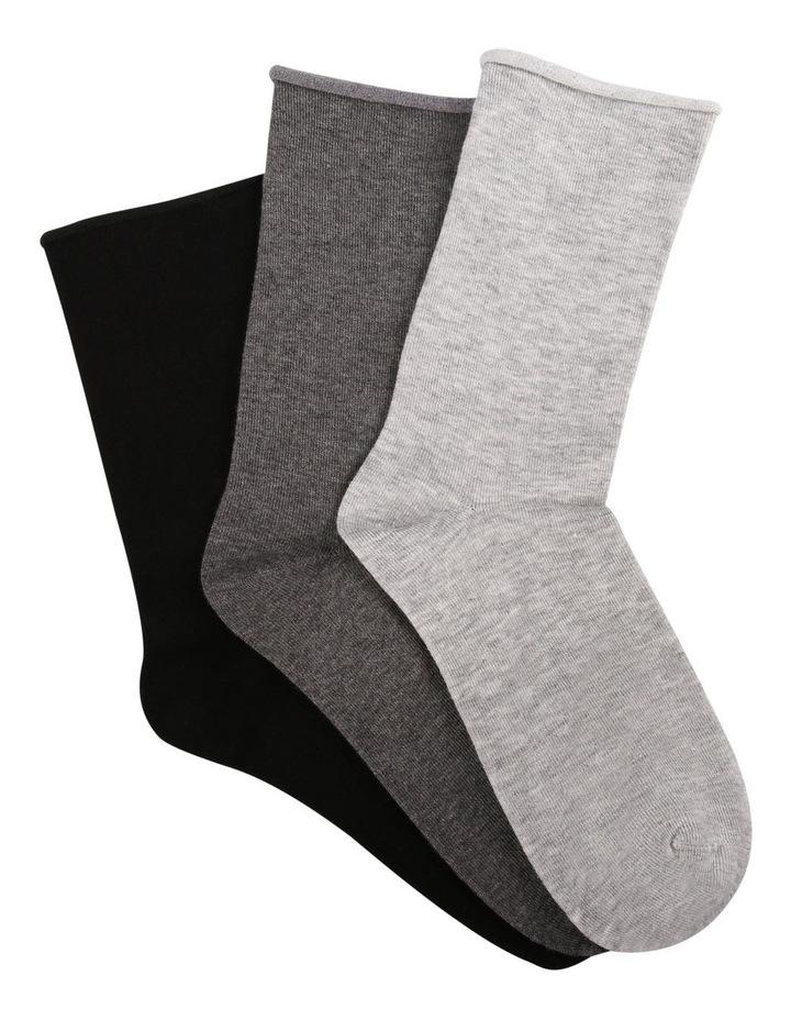 Cotton Blend Comfy Crew Socks 3 Pack image 1