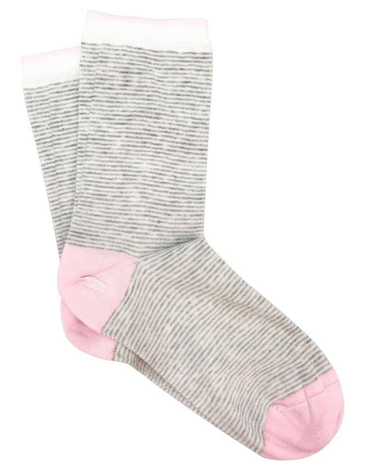 Lina Cotton Rich Fine Stripe Crew Sock image 1