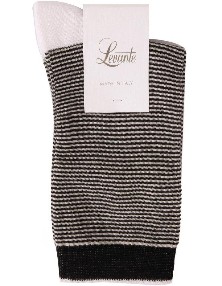 Lina Cotton Rich Fine Stripe Crew Sock image 2