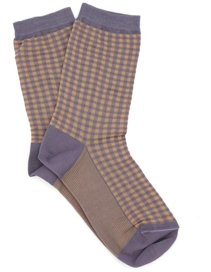Grazia Check Crew Sock LEGRCKSK image 1