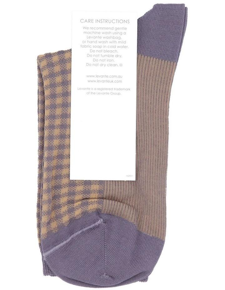 Grazia Check Crew Sock LEGRCKSK image 3