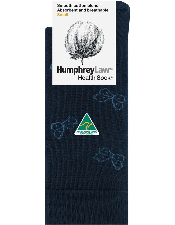 Health Cotton Crew Sock 51C05 Butterfly Pattern image 1