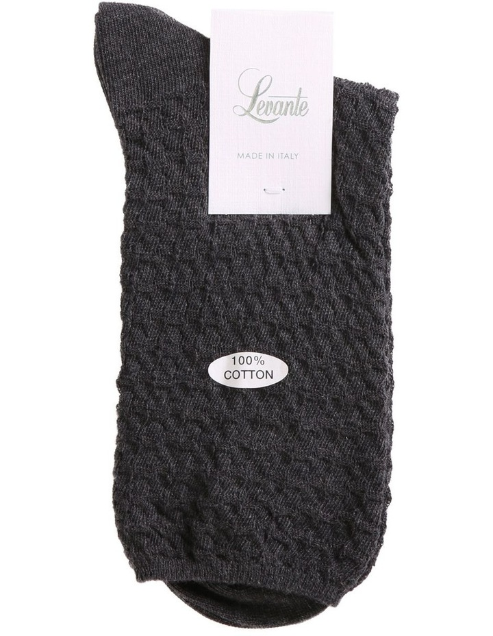 100% Textured Cotton Sock image 2