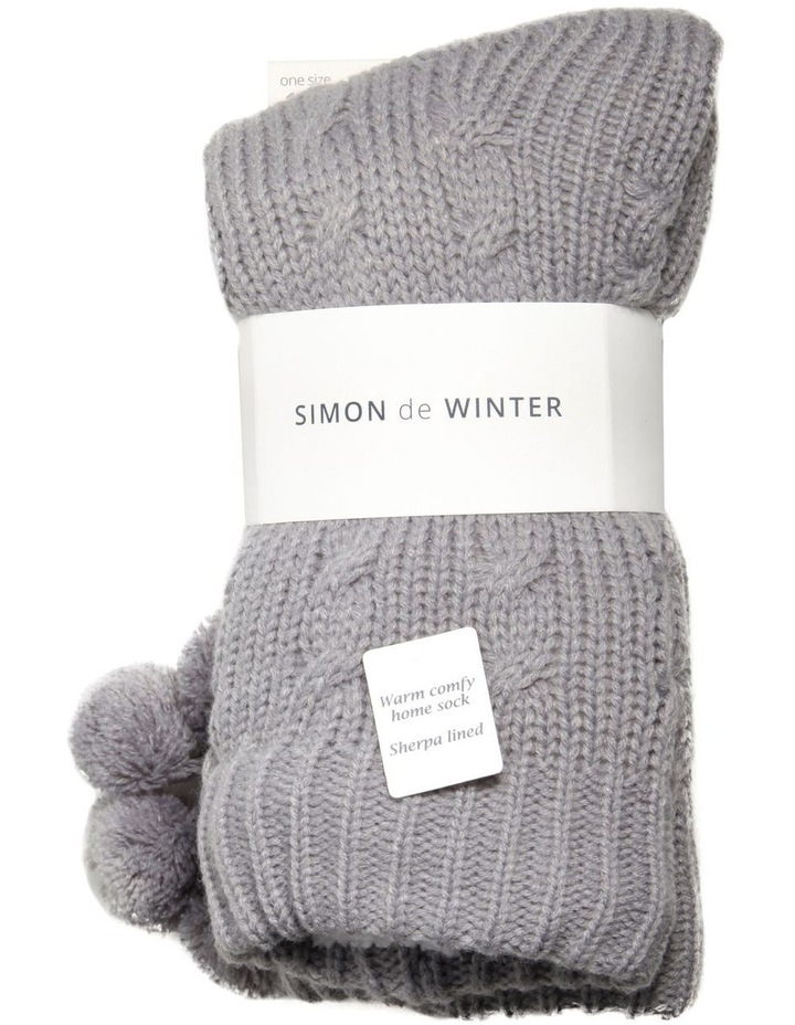 5d2fa21a3 Simon De Winter | 'Sherpa Lined' Cable Knit Bed Sock | MYER
