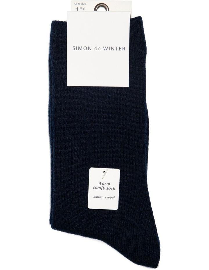 Plain Wool Blend Crew Sock 12-116 image 2