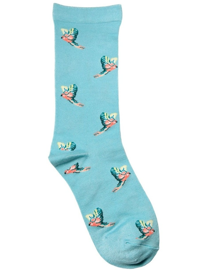 Flying Parrots Crew Bamboo Socks 20-096 image 1