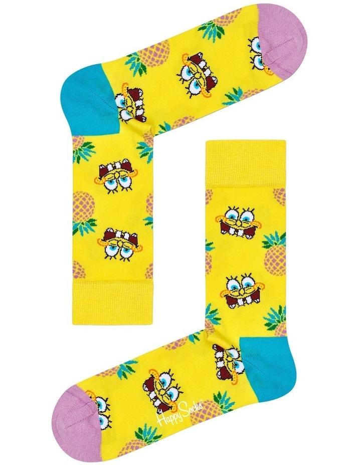 Sponge Bob Fineapple Surprise Crew Sock image 1