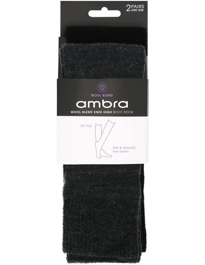 Wool Blend Knee High Boot Sock 2 Pack image 2
