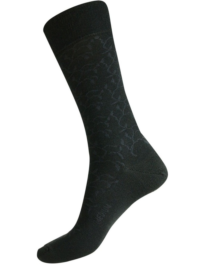 60% Fine Merino Wool Ladies Health Sock  Lace Vine Pattern image 2