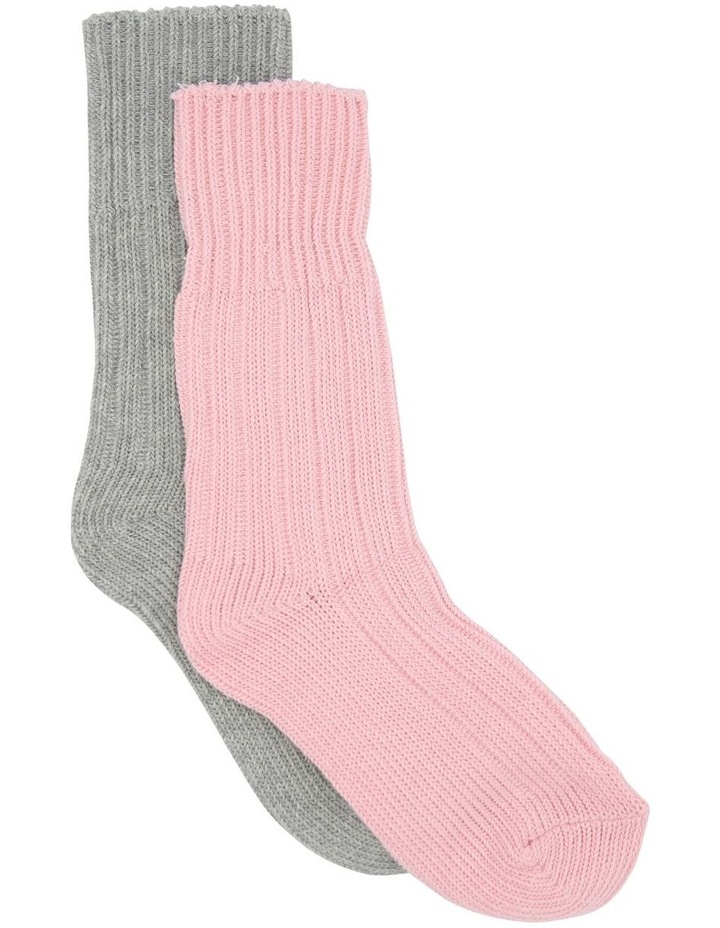 2 Pack Chunky Cotton Rib Boot Sock AMSOCRBS2P image 1