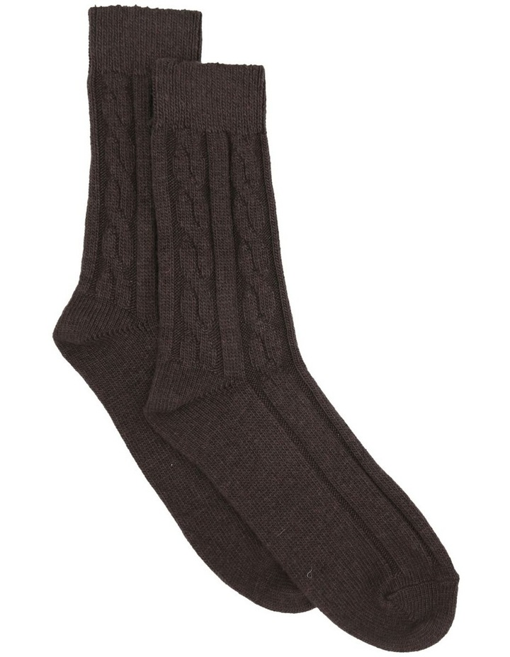 Nina Cable Crew Sock LEVNCR image 1