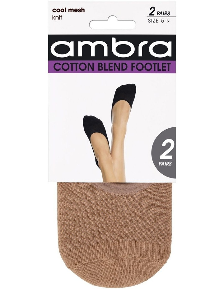 Cotton Mesh Footlet 2 Pair Pack image 1