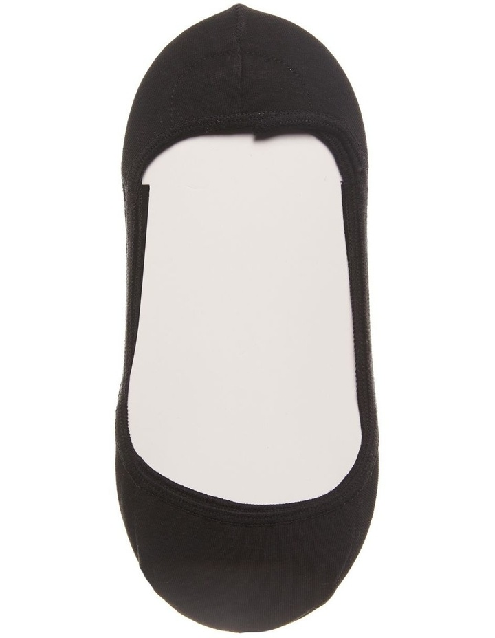 2 Pack Invisible Liner Socks Black image 2