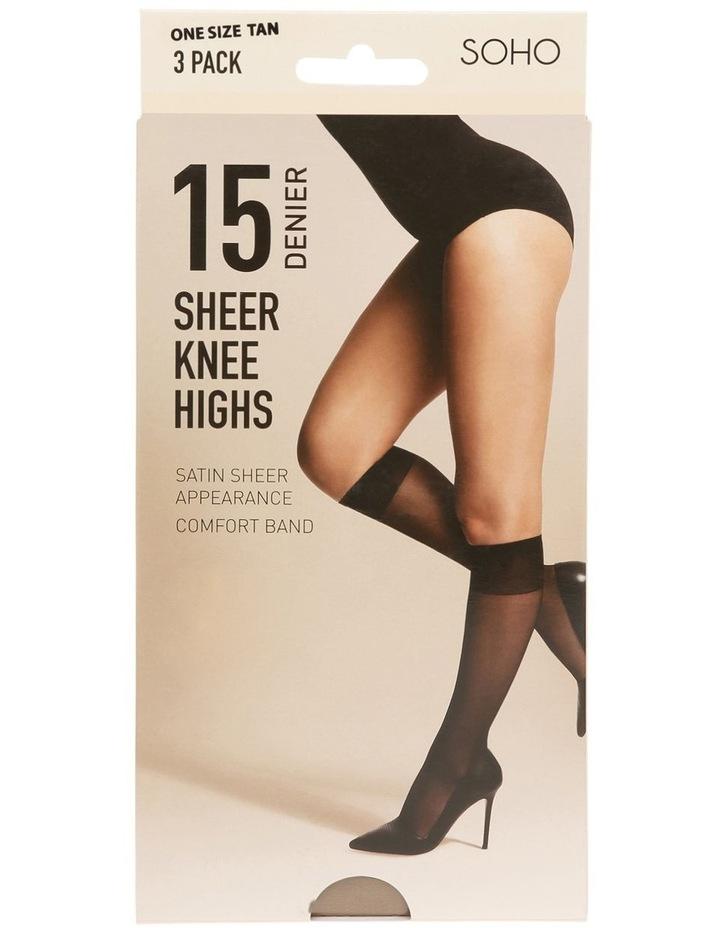 15D Sheer Knee Highs 3 Pack image 1