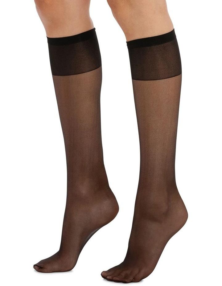 15D Sheer Knee Highs 3 Pack image 3