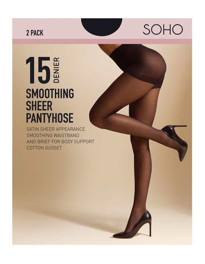 Soho 15D Smoothing Brief 2pk Pantyhose image 1