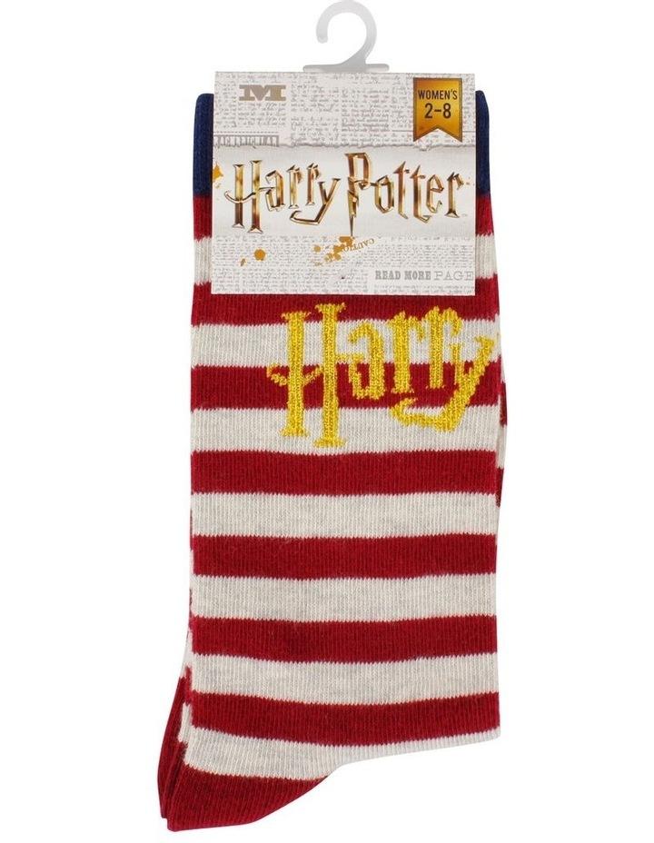 Harry Potter Logo Stripe Crew Sock image 2