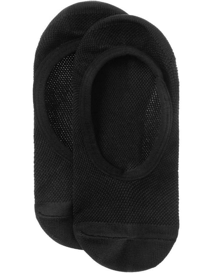 Microfibre Active Footlet Sock in Black image 1