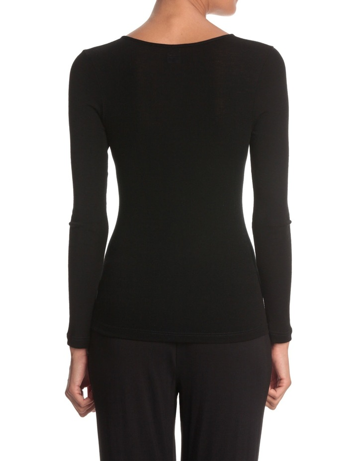 Pure Wool Long Sleeve Top with Motif image 3