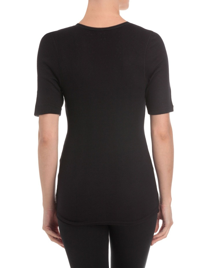 'Pointelle' Short Sleeve Top WY23 image 3