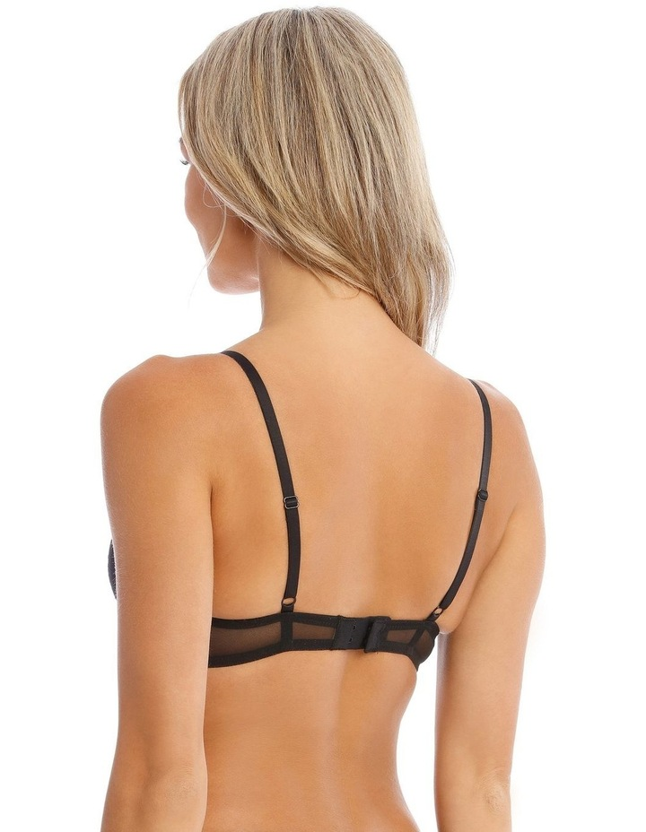 Flora Non-Moulded Underwire Bra in Black image 2