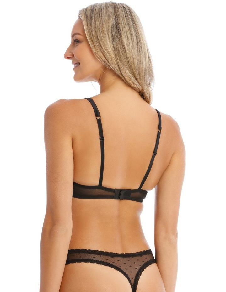 Willow Non-Moulded Underwire Bra in Black image 2